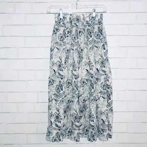 Zara long floral skirt